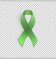 green ribbon on transparent background vector image vector image