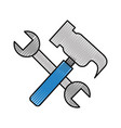 hammer and wrench tools vector image vector image