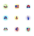 Holiday of USA icons set pop-art style vector image vector image