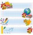 Horizontal school banners vector image vector image