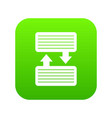 infographic blocks with arrows icon digital green vector image