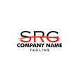 initial letter srg logo template design vector image vector image