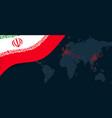 iran corona virus covid-19 pandemic outbreak world vector image vector image