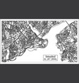 istanbul turkey city map in black and white color vector image