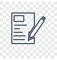 letter concept linear icon isolated on vector image vector image
