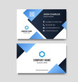 modern blue business card background vector image vector image