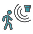 motion detector colorful line icon security guard vector image