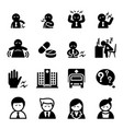 office syndrome icon vector image