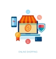 Online shopping and e-commerce flat icon vector image vector image