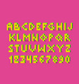 pixel retro video game font 80 s retro alphabet vector image vector image