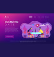 romantic date concept landing page vector image vector image