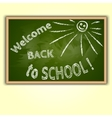 school blackboard with Back To School text vector image