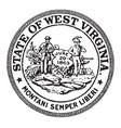 Seal state west virginia vintage