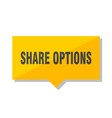 share options price tag vector image vector image