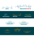 Sound waves logo vector image vector image