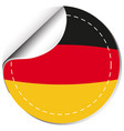 sticker design for germany flag vector image vector image