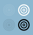 target the black and white color icon vector image vector image