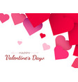 valentines day background with red hearts cute vector image vector image