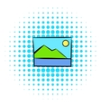 Web picture icon comics style vector image vector image