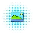 Web picture icon comics style vector image