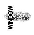window repair text word cloud concept vector image vector image