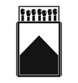 wood matchbox icon simple style vector image vector image