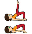 yoga asana set bridge pose vector image vector image