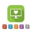 Color set of flat virtual love icon vector image