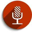 microphone web flat icon vector image