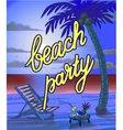 Summer Beach Lettring Party Flyer vector image