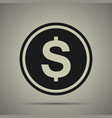 coin icon in flat style vector image