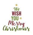 xmas poster with text vector image