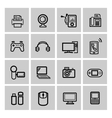 black video and audio icons set vector image