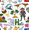 Sketch Haiti seamless pattern vector image