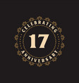 17 anniversary celebration greetings card for