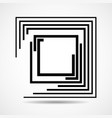 abstract square logo with lines geometric sign vector image vector image