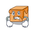 angry caramel candies mascot cartoon vector image vector image