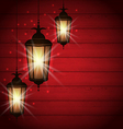 Arabic lamps for holy month of muslim community vector image vector image