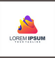 awesome abstract gradient logo design vector image vector image