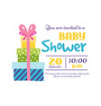 baby shower badge happy mothers day insignias gift vector image vector image