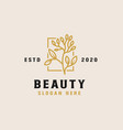 beauty flower logo template vector image vector image