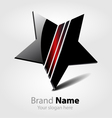Brand black star logo vector image vector image