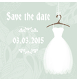 Bridal shower invitation cadr template vector image