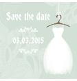 Bridal shower invitation cadr template vector image vector image