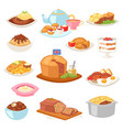 british food english breakfast meal and vector image vector image
