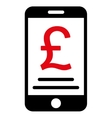 British Pound Mobile Payment Icon vector image vector image