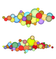 bubble string pattern in multiple color over white vector image vector image