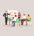 business people conference vector image vector image