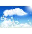 Butterflies in the sky vector image vector image