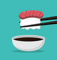 cartoon sushi and food japan isolated vector image